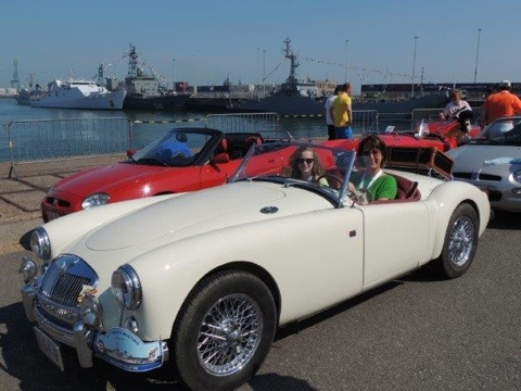 Mg car club belgium 60th anniversary, @ the movies !!!