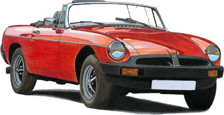 WIE BEZIT EEN MG B VAN DE LAATSTE GEBOUWDE AUTO'S IN 1980 ?