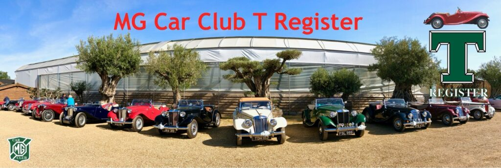 MG CAR CLUB T REGISTER NEWSLETTER no 56, August 2020