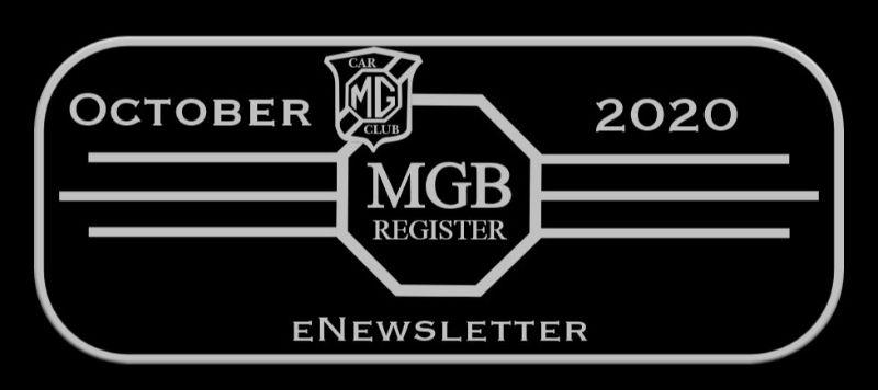ENEWSLETTER FROM MGB REGISTER OCTOBER 2020