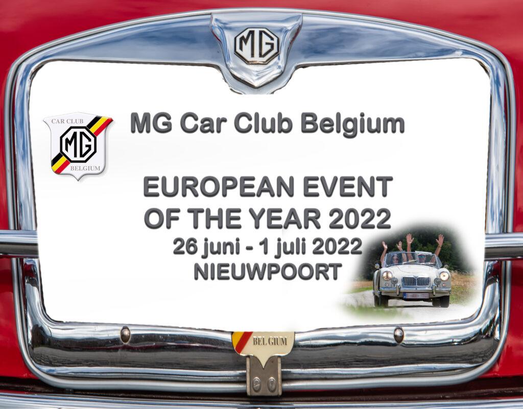 MG Car Club Belgium European Event Of The Year 2022 van zondag 26 juni t/m vrijdag 1 juli 2022 Nieuwpoort